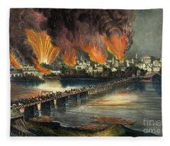 Fall Of Richmond Fleece Blanket