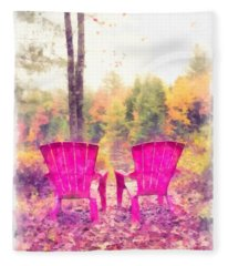 Fall On Anderson Pond Eastman Grantham New Hampshire Fleece Blanket