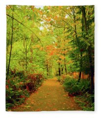 Fall Path Too Fleece Blanket