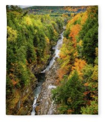Fall Quechee Gorge, Vt Fleece Blanket