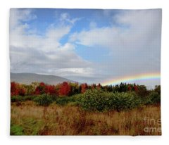 Fall Rainbow Fleece Blanket