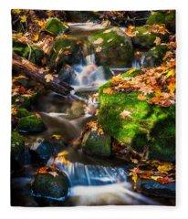 Fall Seasonal Water Cascade Fleece Blanket