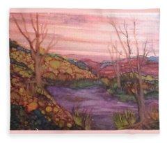 Fall Sky Fleece Blanket