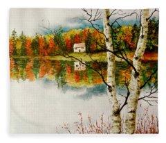 Fall Splendour Fleece Blanket