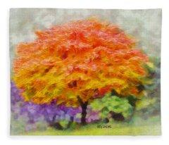Fall Tree Fleece Blanket