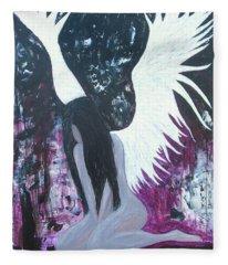 Fallen Angel Fleece Blanket