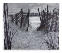 Falling Fence Fleece Blanket