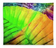 Falling Leaf Abstract Fleece Blanket