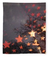 Falling Stars And I Wish.... Fleece Blanket