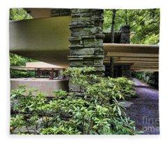 Falling Water Flw Frank Lloyd Wright  Fleece Blanket