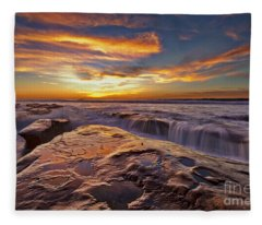 Falling Water Fleece Blanket
