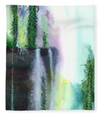 Falling Waters 1 Fleece Blanket