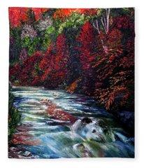 Falling Waters Fleece Blanket