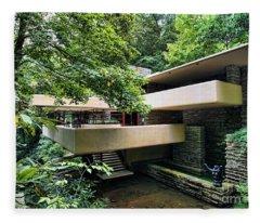 Fallingwater Frank Lloyd Wright Architect Fleece Blanket
