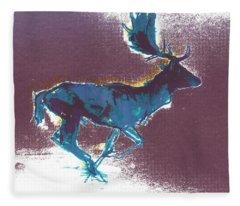 Fallow Buck Fleece Blanket