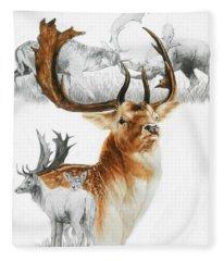Fallow Deer Fleece Blanket