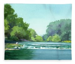 Falls At Estabrook Park Fleece Blanket