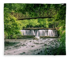 Fleece Blanket featuring the photograph Falls At Ritter Springs by Allin Sorenson