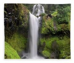 Falls Creek Falls In Washington  Fleece Blanket