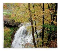 Falls In Autumn Fleece Blanket