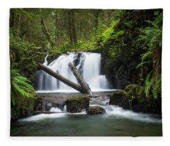 Falls On Canyon Creek Fleece Blanket
