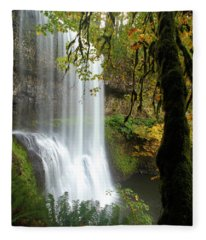 Falls Though The Trees Fleece Blanket