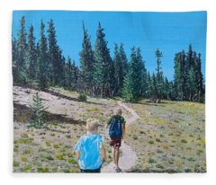 Family Hike Fleece Blanket