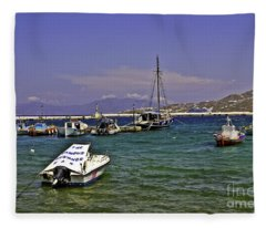 Famous Mykonos Bar Fleece Blanket