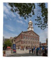 Faneuil Hall Boston Fleece Blanket