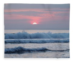 Fanore Sunset 1 Fleece Blanket