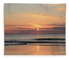 Fanore Sunset 3 Fleece Blanket