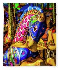 Fantasy Carrousel Ride Fleece Blanket