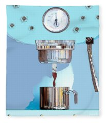 Fantasy Espresso Machine Fleece Blanket