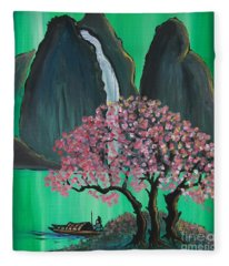 Fantasy Japan Fleece Blanket