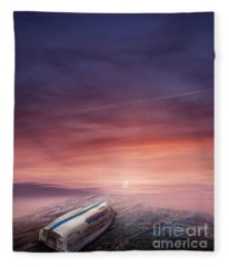 Fantasy Landscape Fleece Blanket