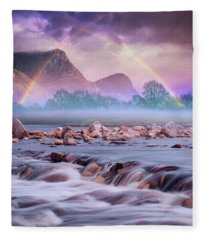 Fantasy Landscape II Fleece Blanket