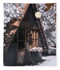 Fantasy Wooden House Fleece Blanket