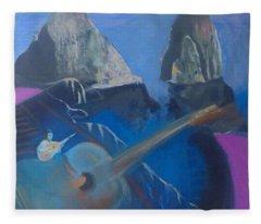 Faraglioni Serenade Fleece Blanket