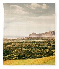 Farm Fields To Seaside Shores Fleece Blanket