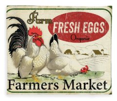 Farm Fresh Eggs-a Fleece Blanket