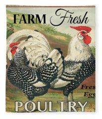 Farm Fresh Poultry-a Fleece Blanket