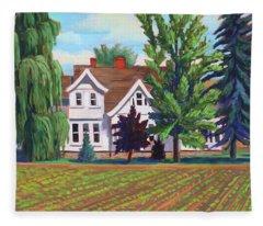 Farm House - Chinden Blvd Fleece Blanket