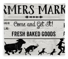 Farmers Market-b Fleece Blanket