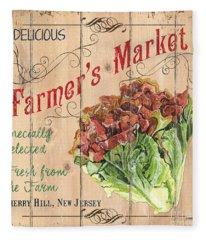 Farmer's Market Sign Fleece Blanket