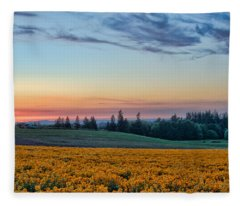 Farmhouse Among The Wallflowers Fleece Blanket