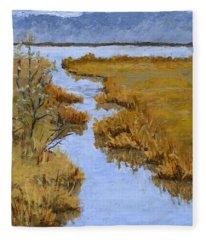 Farmington Bay Marsh Fleece Blanket