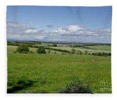 Farmland In Beecraigs. Fleece Blanket