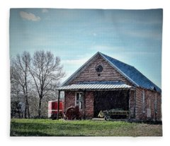 Farmland Spring Fleece Blanket