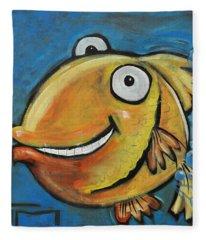 Farting Fish Fleece Blanket