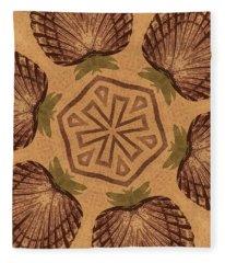 Fat Pineapple And Star Fleece Blanket